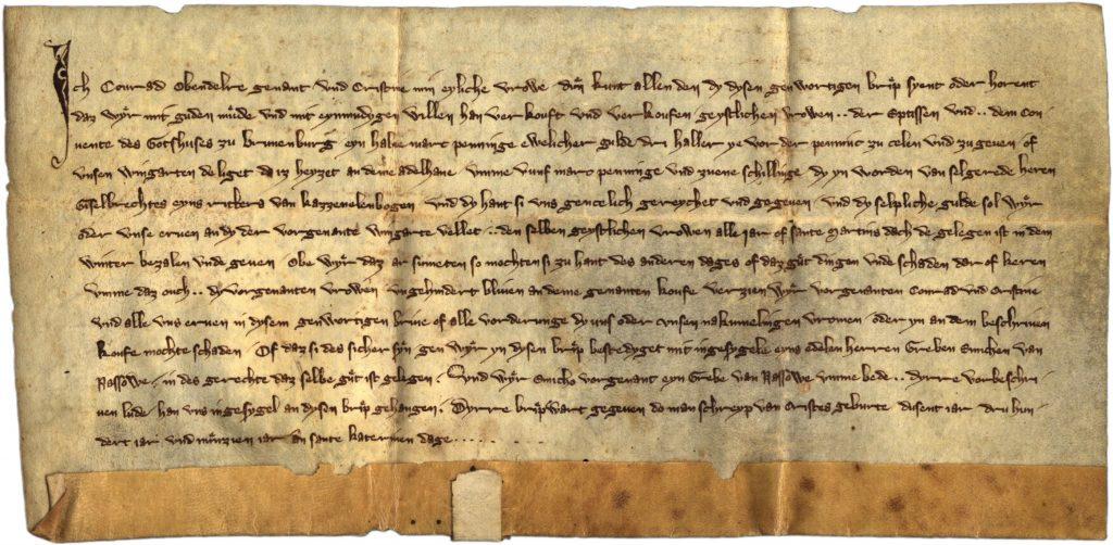 1319 Urkunde Erwähnung Adelhahn