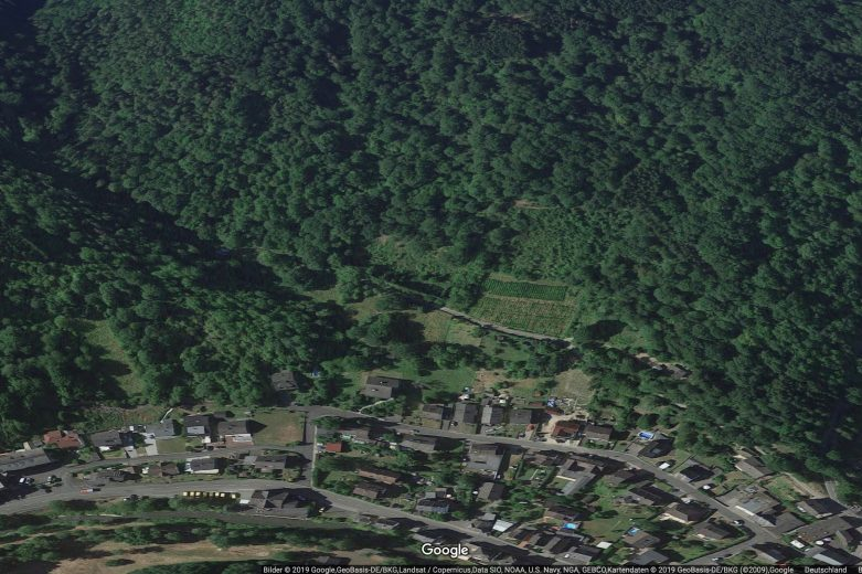 Weinähr Ummelbach / Hinterwiesen / Im Rothen Bildschirmfoto Google Maps