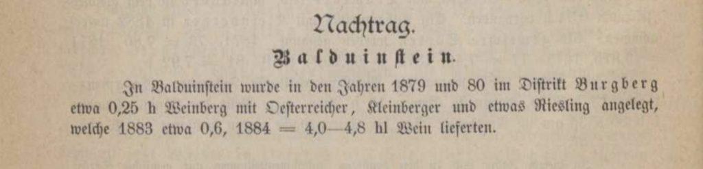 Ausschnitt: Deutsche Weine und Weinbau-Stätten, verfasst von H. W. Dahlen, General-Sekretär des Deutschen Weinbauvereins, Mainz, 1894