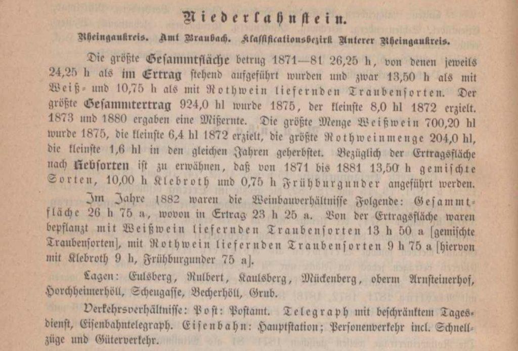 Deutsche Weine und Weinbau-Stätten, verfasst von H. W. Dahlen, General-Sekretär des Deutschen Weinbauvereins, Mainz, 1885