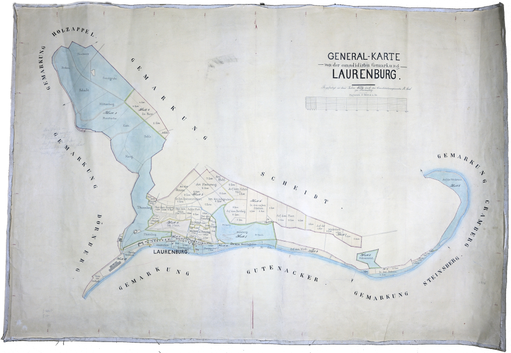 Generalkarte von der consolidierten Gemarkung - Laurenburg, 1878
