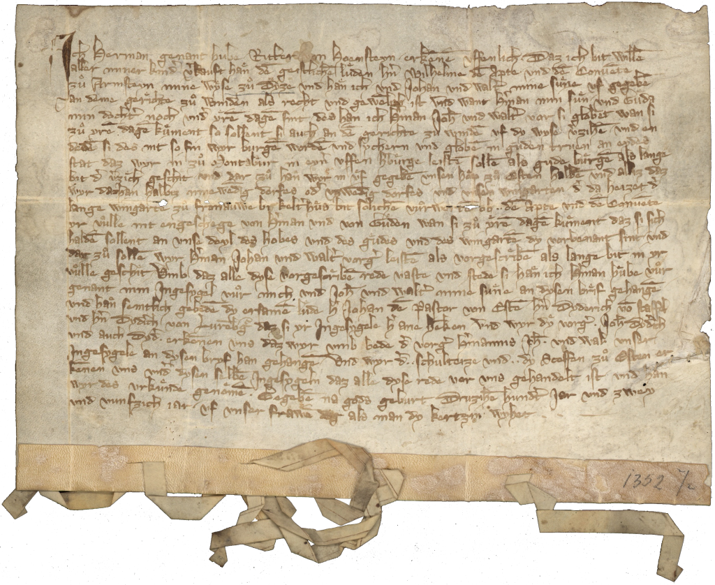 HHStAW, 11, Nr. U 114a, 1352