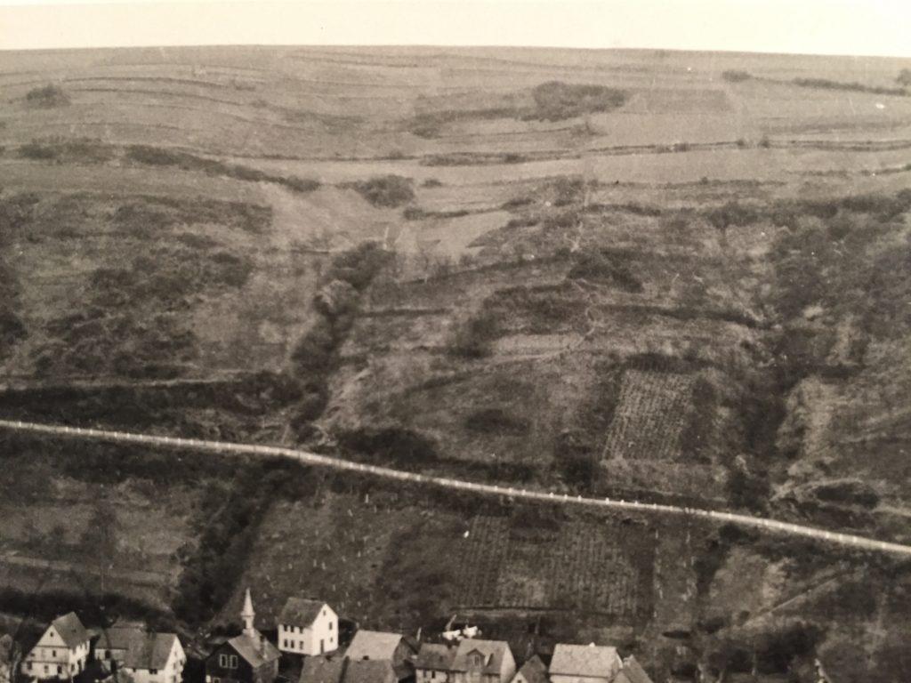 Ehemalige Lage Im Stein zu Laurenburg am 05.02.1909