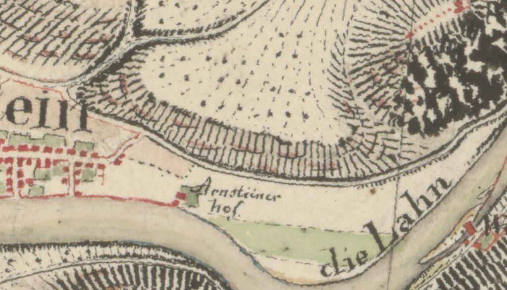 Ausschnitt Niederlahnstein / Weinlage Oberm Arnsteiner Hof