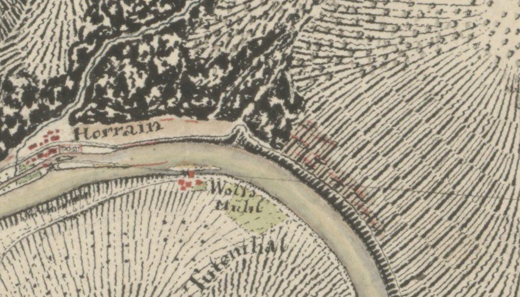 Ausschnitt Niederlahnstein / Lage Im Rulbert