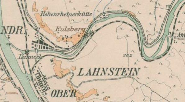 Ausschnitt aus der 'Rhein-Weinbau-Karte für die Strecke Bingerbrück/Rüdesheim - Coblenz : einschliesslich des Lahnthales